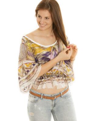 Pull chauve-sourie en soie
