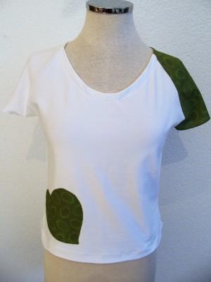 Patch'Coeur blanc avec coeur vert