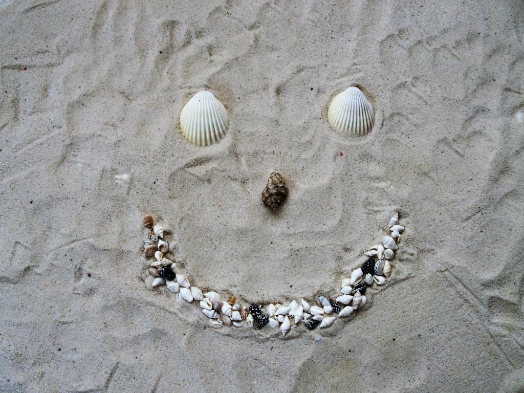 Heureuse à la plage