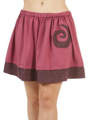 Jupe Patch'Mode rose avec spirale violette