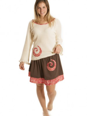 Tenue Patch'Mode tricot et brune