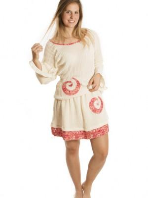 Tenue tricot avec spiral rouge
