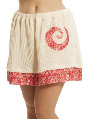 Jupe Patch'Mode tricot avec spiral rouge