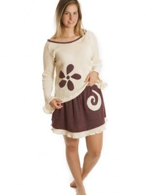 Tenue tricot et violet